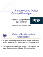 Lecture 7 Vision+Supplementary Specification