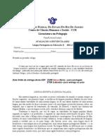 Ad1.Língua Portuguesa na Educação II 2011