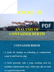 15 Analysis of Container Berth