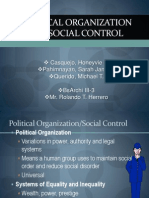 Political Organization and Social Control Final Report