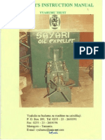 Manual Sayari Oil Expeller