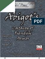 Abigot's Catalog of Fiendish Armor