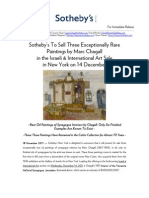 Sotheby's New York To Sell Rare Synagogue Interiors by Marc Chagall