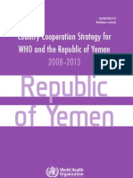 @WHO #Yemen Country Cooperation Strategy 2008-2013