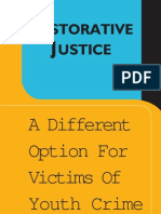 RESTORATIVE J USTICE Option For Victims Of Youth Crime