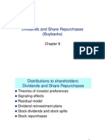 Chap 8 Dividends and Share Repurchases Buybacks)