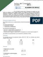 Guia 4. Algebra de Boole