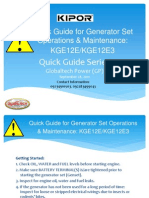 Operating Manual for Kipor Mobile Gic-pg Kipor Quick Guide Om