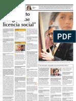 El Proyecto Conga Tiene Licencia Social