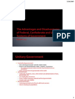 Adv Dis Fed Confed and Unitary Govt