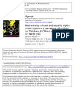 Harmonising cultural and equality rights