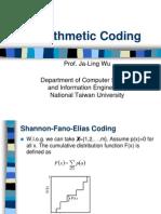 Data Compression Arithmetic Coding