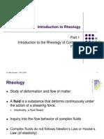 I. Introduction to Rheology