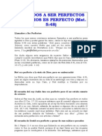 LLAMADOS A SER PERFECTOS COMO DIOS ES PERFECTO (Mat. 548)