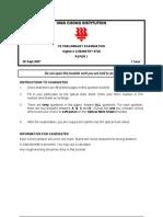 HCI Chem H2 Paper 1 Question Paper