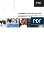 IBM Pursuing Operational Excellence in IT