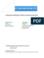 A Training Report on Bsnl Ocb 283 Exchange