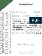 Política pública para Cine