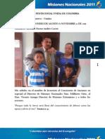Informe Misionero Villanueva - Guajira . Agosto a Noviembre 12-2011 (1)