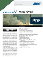 2011 11-14b ALEXA High Speed - Data Sheet - DIN A4
