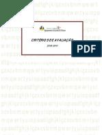 Critérios de avaliação 2010-2011