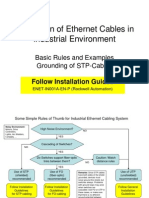 Installation of Ethernet Cables