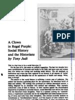 A Clown in Regal Purple - Tony Judt