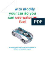 Hack Your Car So It Can Use Water as Fuel