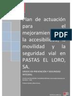 Plan de actuación para el mejoramiento de la accesibilidad, la movilidad y la seguridad vial