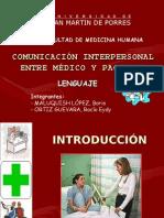ComunicaciÓn Interpersonal Entre mÉdico y Paciente