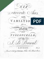 Breval 6 Airs Vari s Op9 Violin y Cello