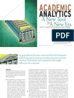 Academic Analytics - A New Tool for a New Era