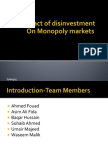 Group 5- Impact of Disinvestment of Monopoly Markets