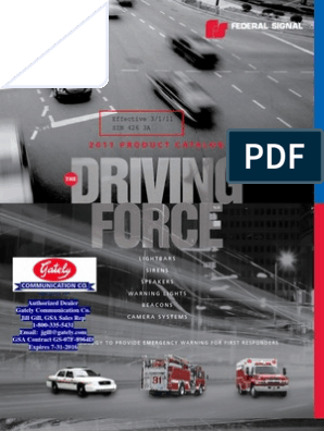 Federal Signal Catalog- 2011   Light Emitting Diode   Motor ... on