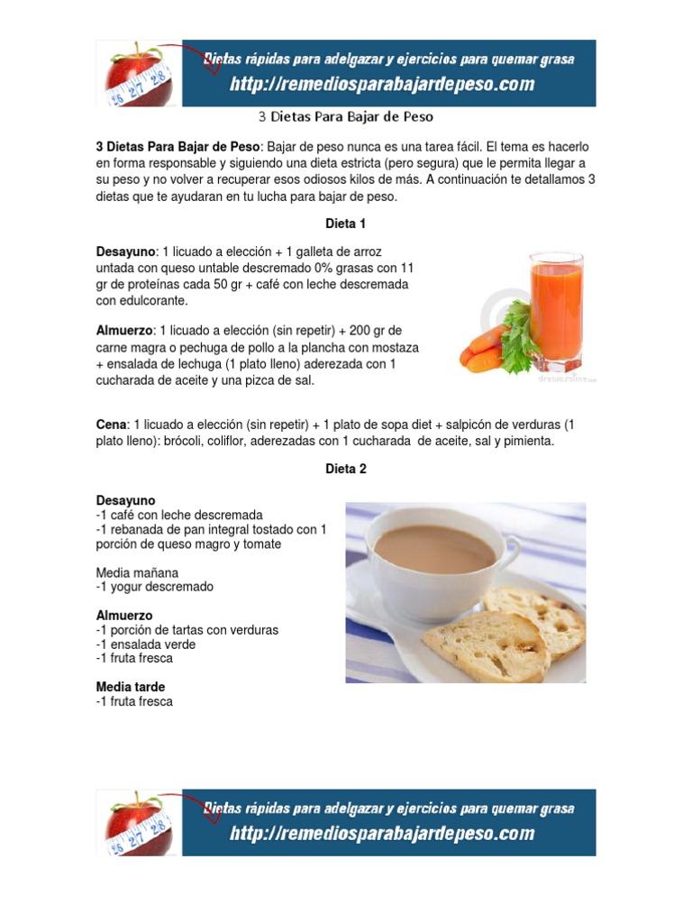 dieta para bajar de peso sin carne