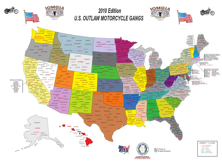 2010 US Outlaw Motorcycle Gangs Map IOMGIA 2010 Edition1[1
