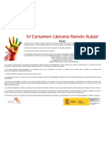 Bases IV Certamen Literario Ramón Rubial