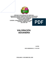 VALORACIÓN ADUANEA (b)