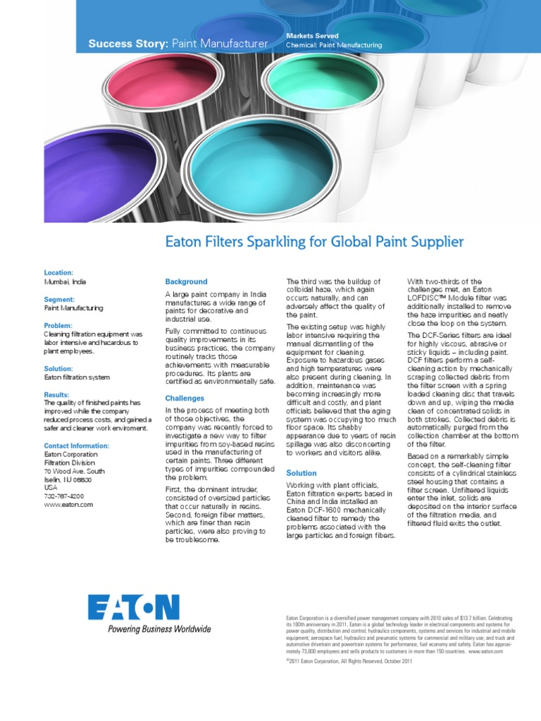 Eaton Filtration - Asian Paints Customer Success Story