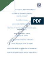 """Reporte de la Practica #7 """"Propiedades Termodinamicas del Vapor de Agua"""""""