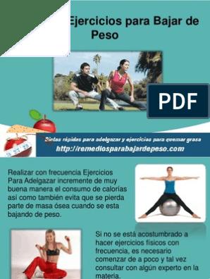 que ejercicio para bajar de peso