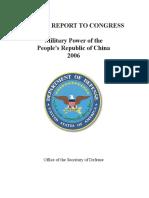 DoD Report China 2006