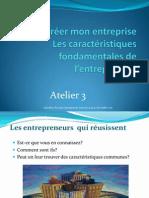 Caractéristiques de l'entrepreneur