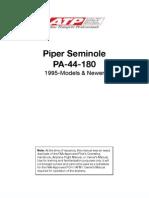 PA 44 180 Seminole Information Manual 1995 Newer