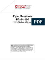 PA 44 180 Seminole Information Manual 1995 Newer