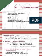 Fluoruros y clorhexidina