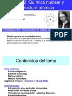 Tema 1.2 Química nuclear y estructura atómica