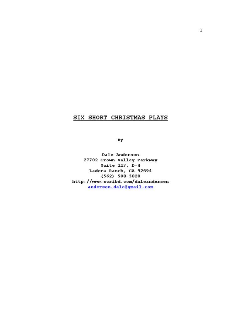 Short Christmas Plays.Six Short Christmas Plays Tiny Tim A Christmas Carol