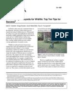 Florida; Landscaping Backyards for Wildlife