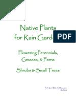 Pennsylvania; Native Plants for Rain Gardens